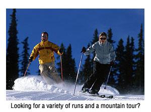 Skiing Groomers at Vail Resort